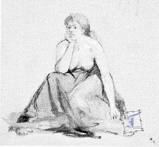 З альбому малюнків М. Башкірцевої. Олівець. ПХМ ім. М. Ярошенка