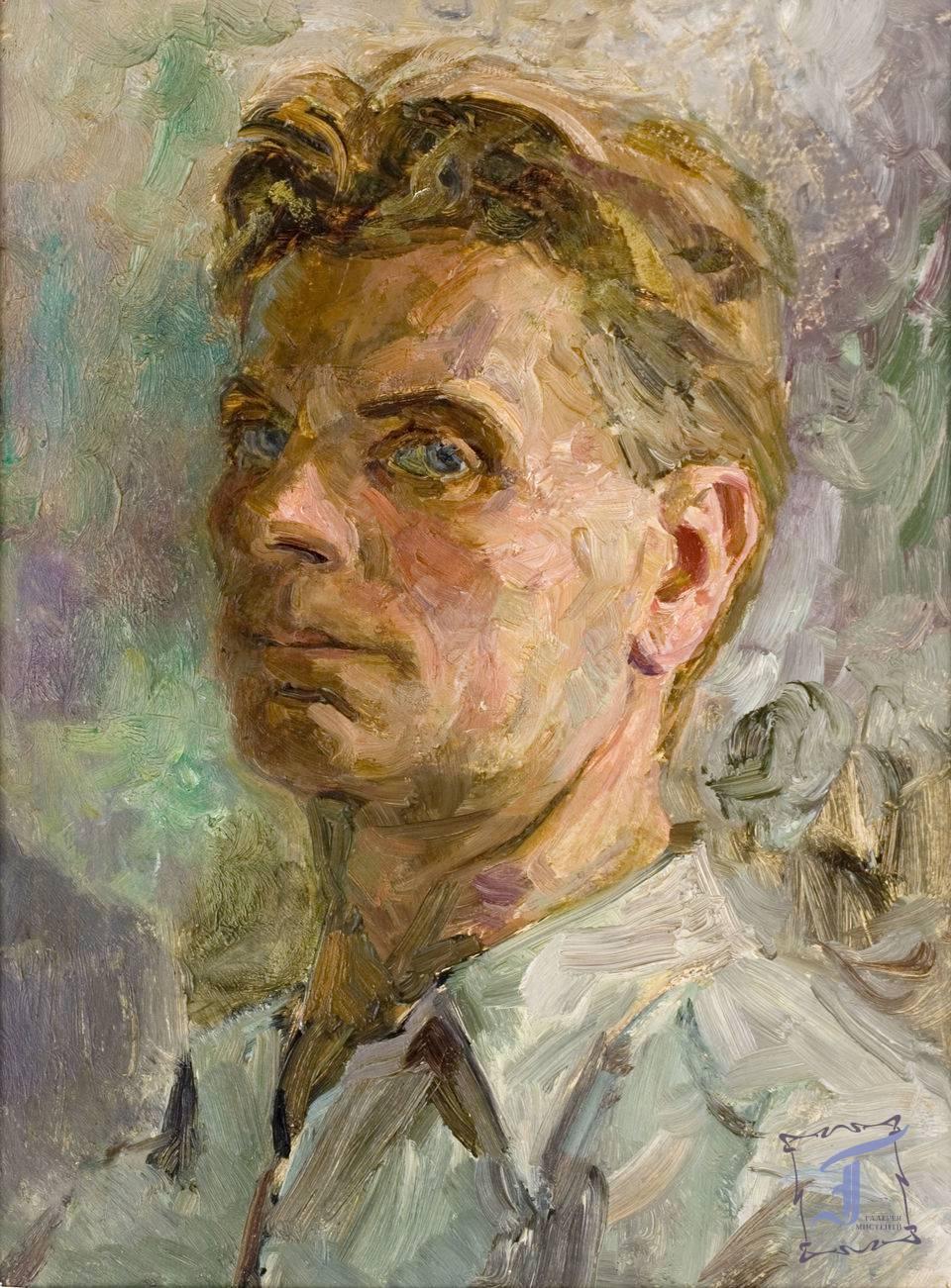 """О. Бізюков. """"Автопортрет"""" (1946)"""