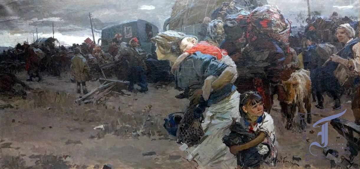 Т. Яблонська «Ворог наближається» (1945)