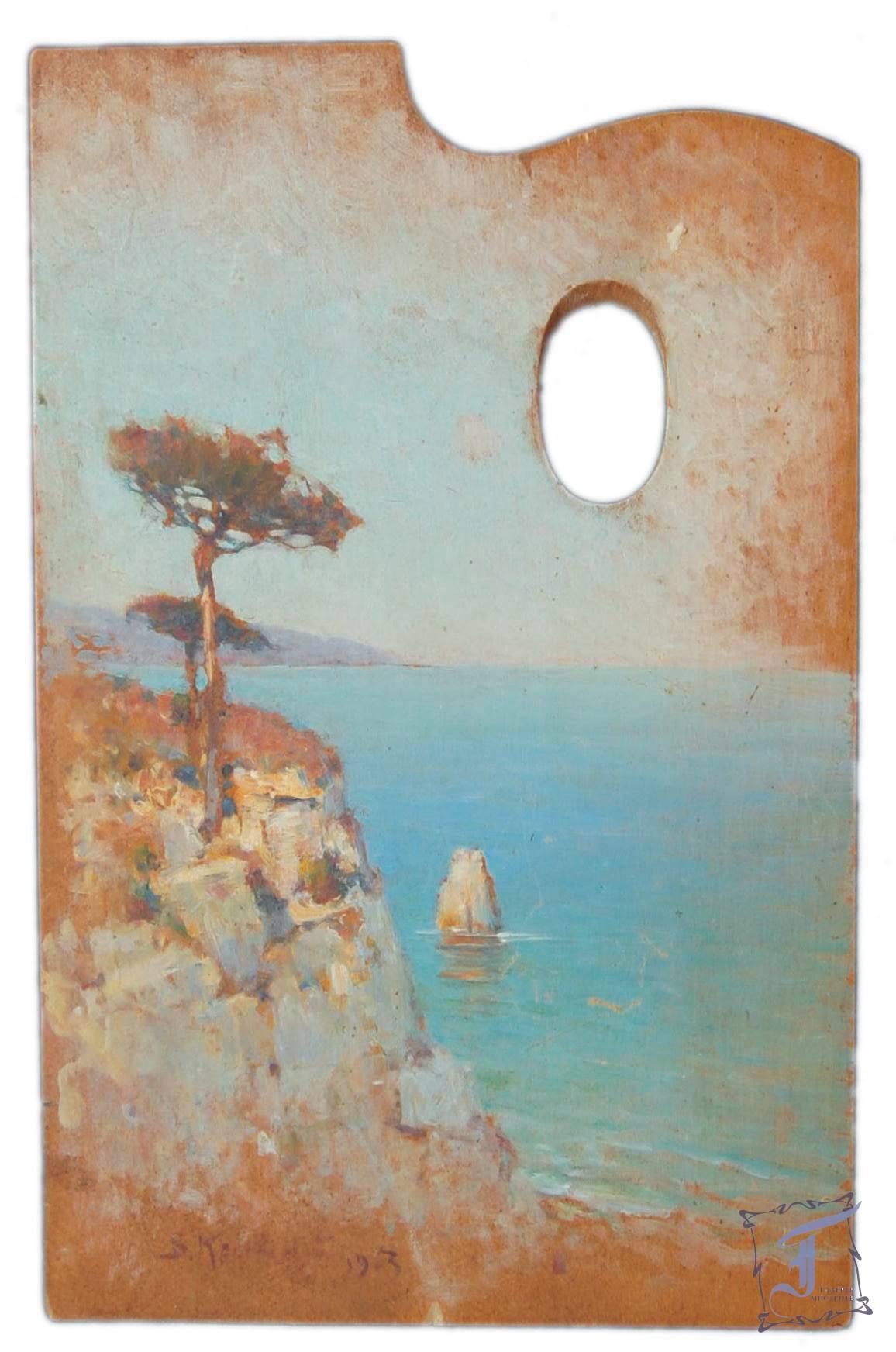 В. Кричевський «Пейзаж на палітрі» (1903)
