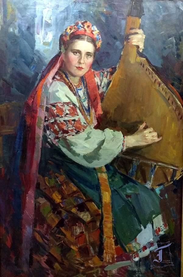 "О. Шовкуненко ""Бандуристка"" (1946)"