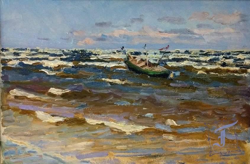 """О. Бізюков """"На хвилях"""" (1953)"""