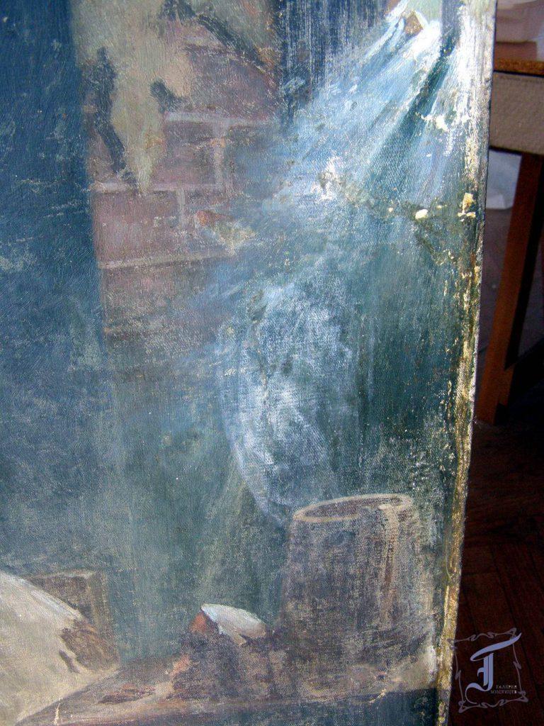 Фрагмент картини до реставрації
