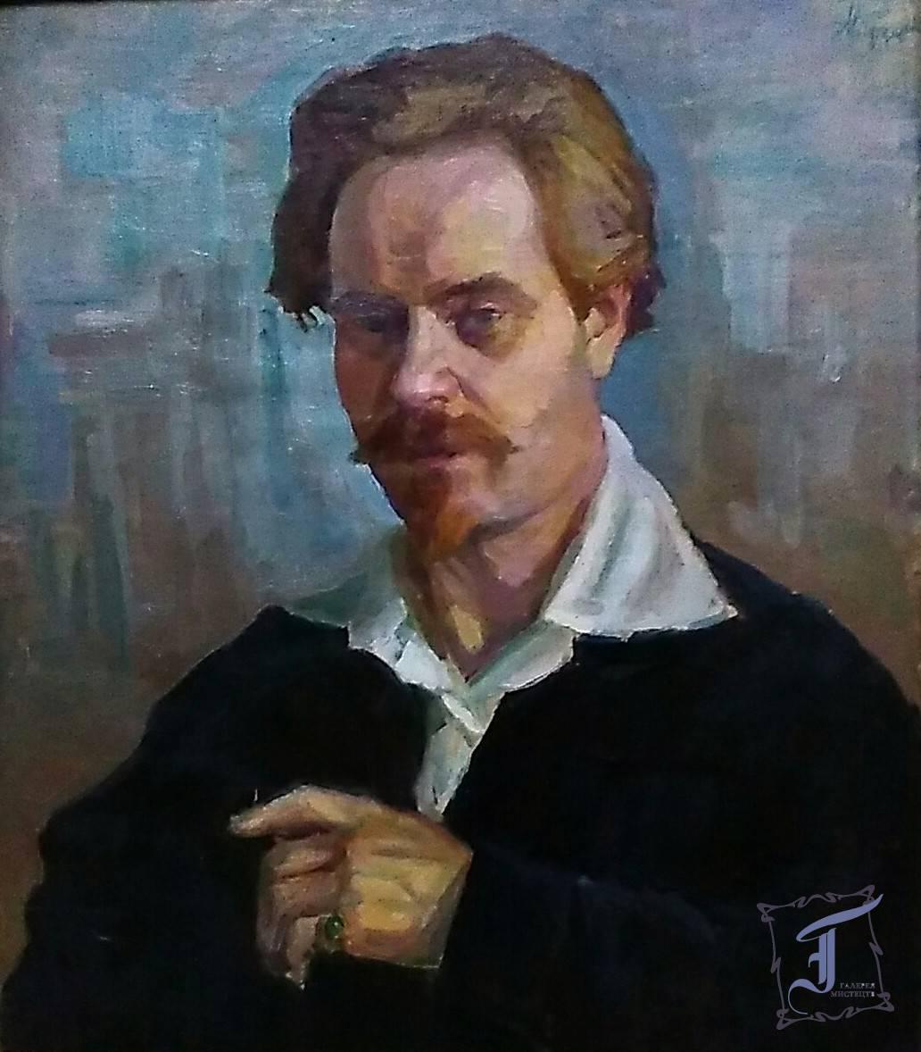 Брукман М. Б. (1884-1929). Портрет художника М.О. Донцова (1877-1974). 1925. Полотно, олія