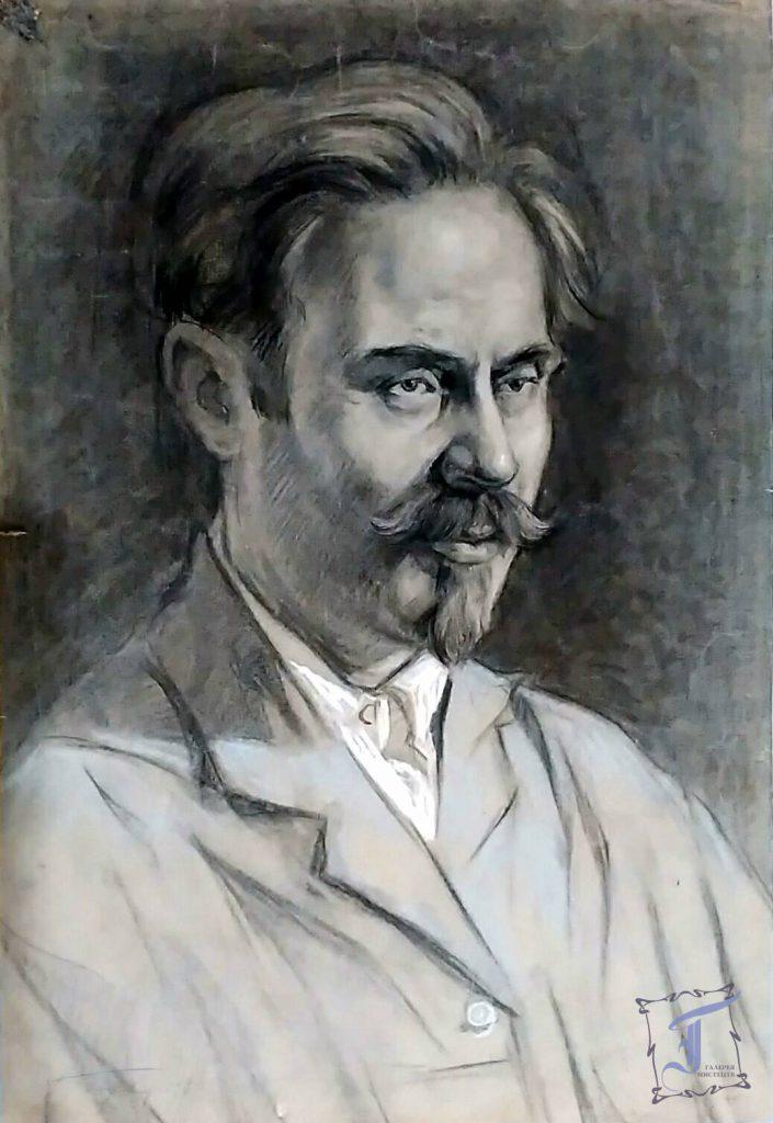 Горобець П.М. (1905-1974) Портрет художника М. О. 1930. Папір, вугілля
