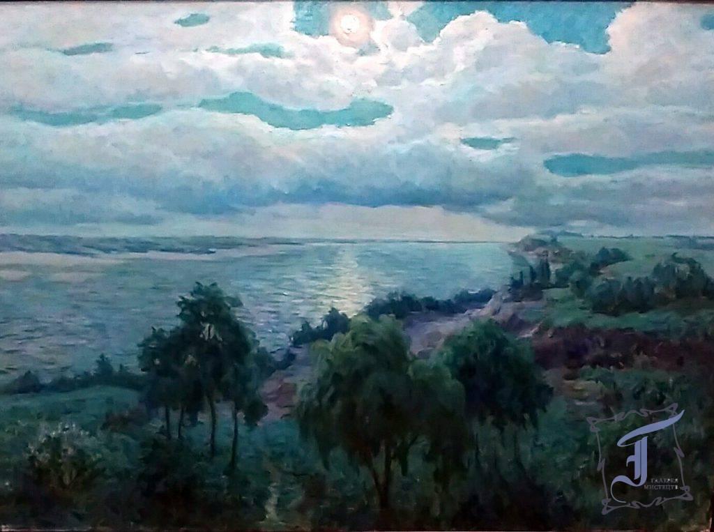 Донцов М.О. (1877-1974). Місячна ніч на Дніпрі. 1961. Полотно, олія