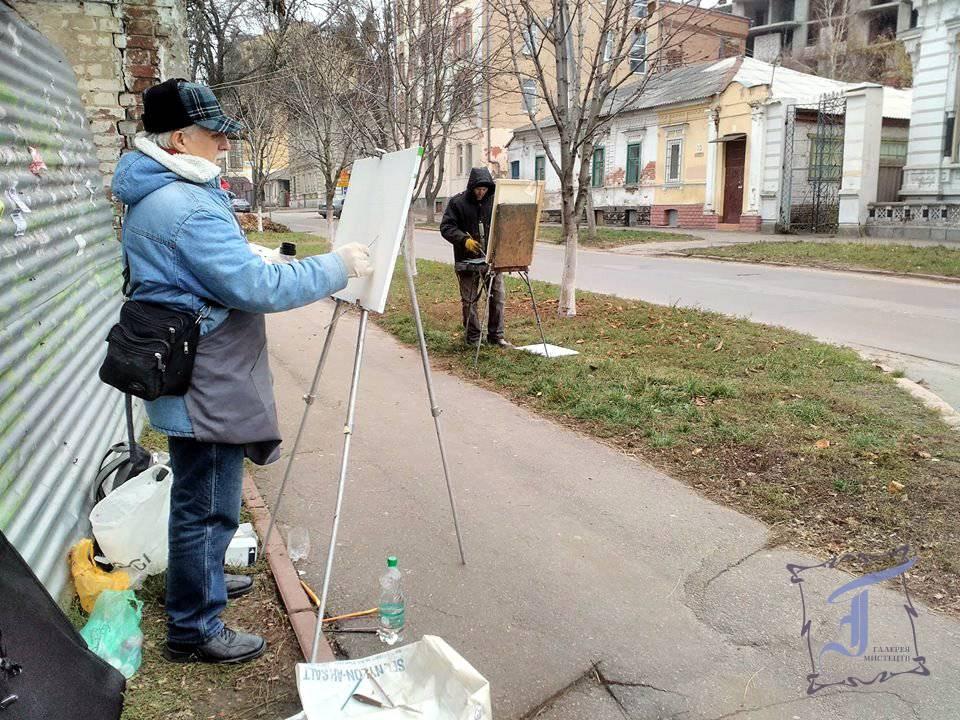 Учасники пленеру Філіпп Чорнобров і Володимир Пащенко