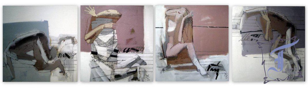 Володимир Харакоз схильний до інтелектуальної складової абстракції, акцентованої асоціаціями з ієрогліфами та літерними «орнаментами» його полотен; летризм художника навіює спомини про іспанця Хуана Грі