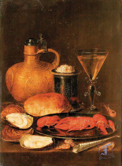 """Клара Петерс (1594—1657). """"Сніданок"""", 1612"""