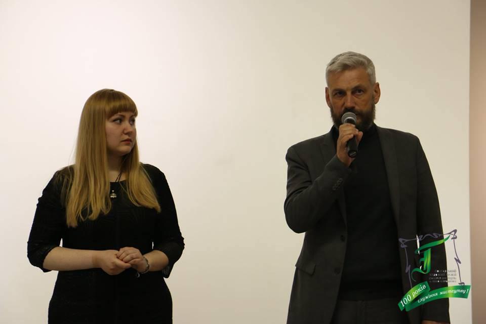 Організаторка ексклюзивного показу фільму Ольга Ружицька та продюсер фільму Олег Щербина