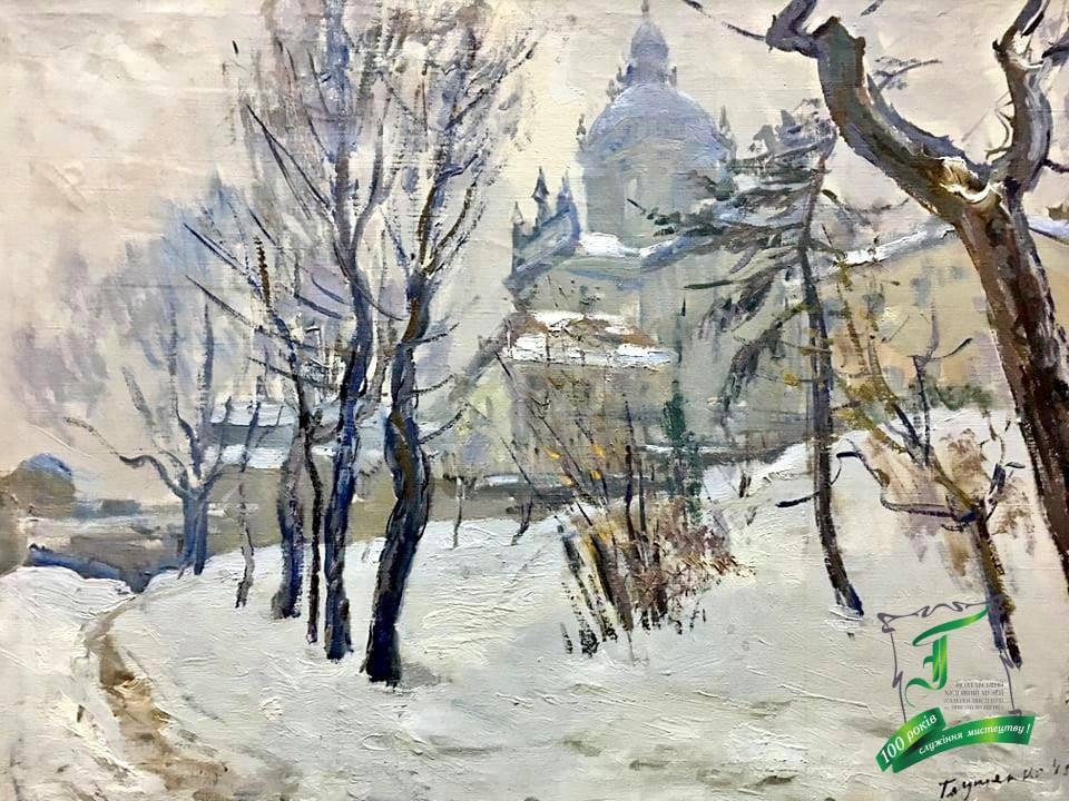 Глущенко М.П. Зима у Львові. П.,о. 1945. 60х80.