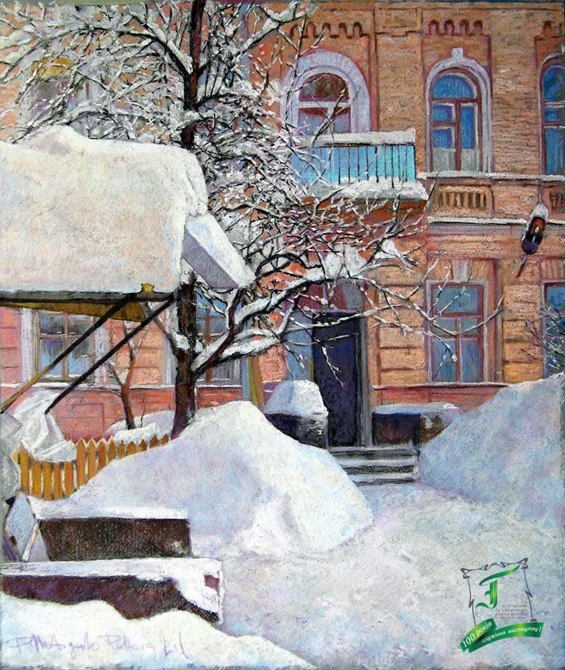 Подвір'я на Андріївському. Київ. 47х39см