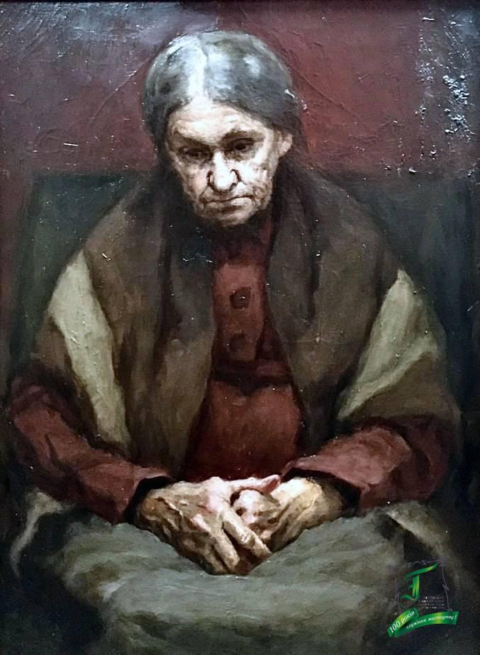 Любімов Є.В. Портрет матері. П.,о. 1977. 38,5х46,5.