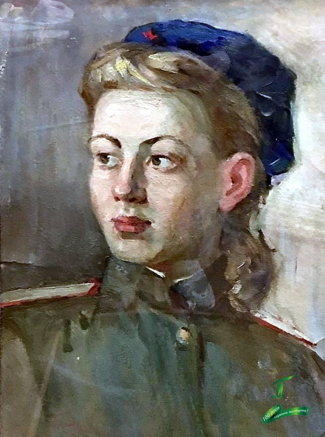 Піаніда Б.М. Портрет Т.В. Титаренко. К., о. 1944. 45х31.