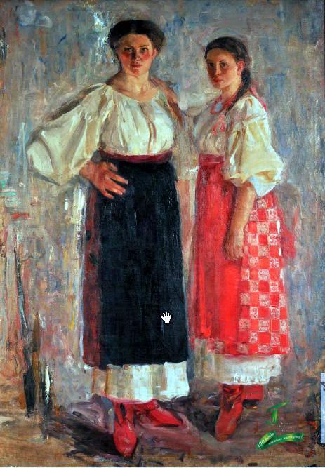 Федір Кричевський. Портрет Варвари і Марії Кричевських. 1902-1903