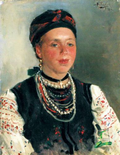 Володимир Маковський. Українка. Етюд. 1883