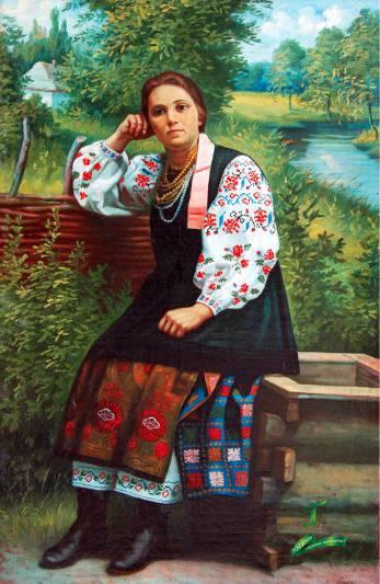 Григорій Ксьонз. Портрет сестри художника. Ксьонзенко Оксана Петрівна