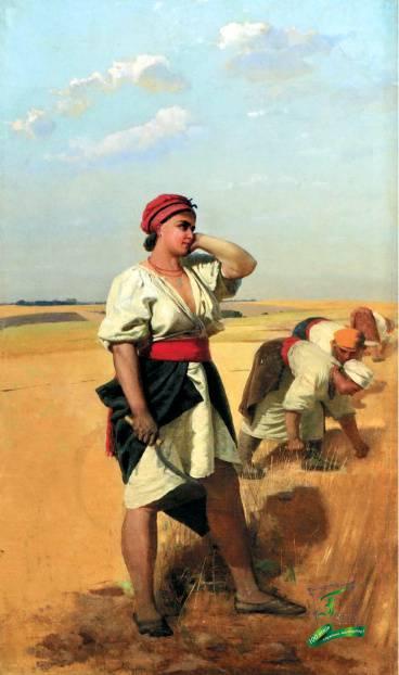 Опанас Сластьон. Жниці. Кін. 1870-поч.1880-х рр.