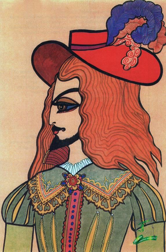 Сашенька зачитувалася романом Дюма «Три мушкетери»,малювала персонажів: Портоса, Араміса, Атоса, д'Артаньяна, короля, герцога, Міледі. Збереглися композиції «Констанція і д`Артаньян», «Дуель на шпагах».