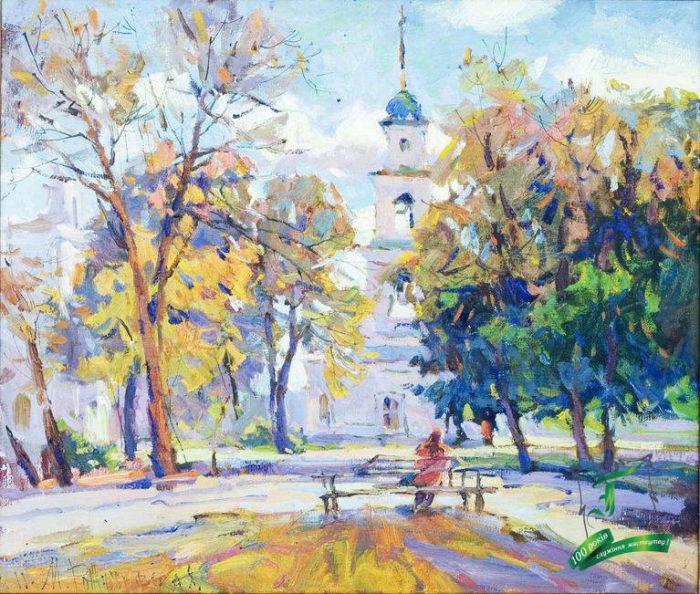 Рожнятовська М.Ю. На Соборній. 2011. Полотно, олія. 60х70