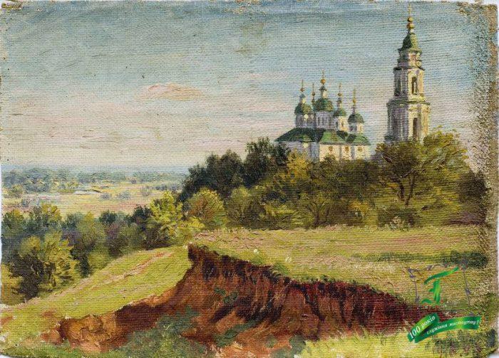 Коваленко Г.О. Монастир у Полтаві. 1916. Полотно, олія. 26,2х33,8