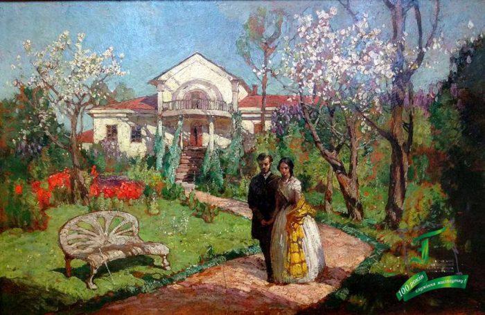 Мясоєдов Г.І. Весна. 1906. Картон, олія. 31,5х49,5