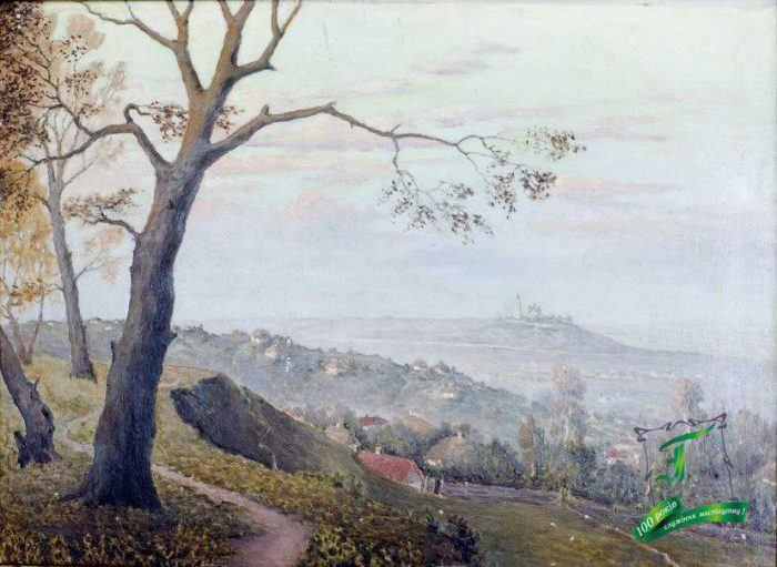 Магденко В.М. Вид на Полтавський монастир. 1951. Картон, олія