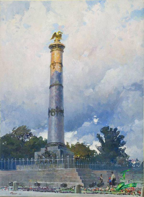 Сидорук В.Ф. Пам'ятник Слави в Полтаві. 1963. Полотно, олія. 74х53