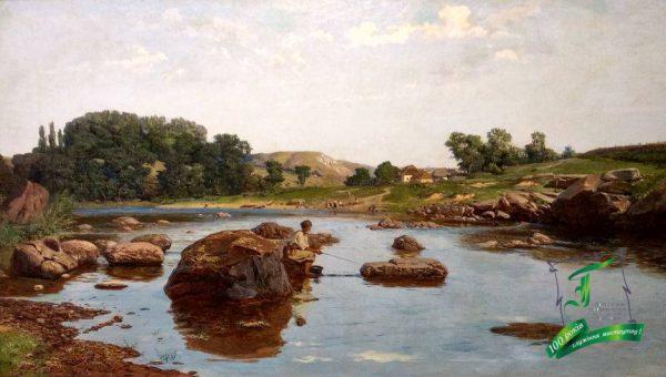 Сластьон Опанас. На річці Рось