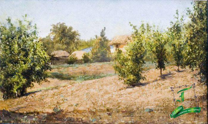Волков В.О. Полтава. Павленки. 1878. Полотно на картоні, олія. 10х18