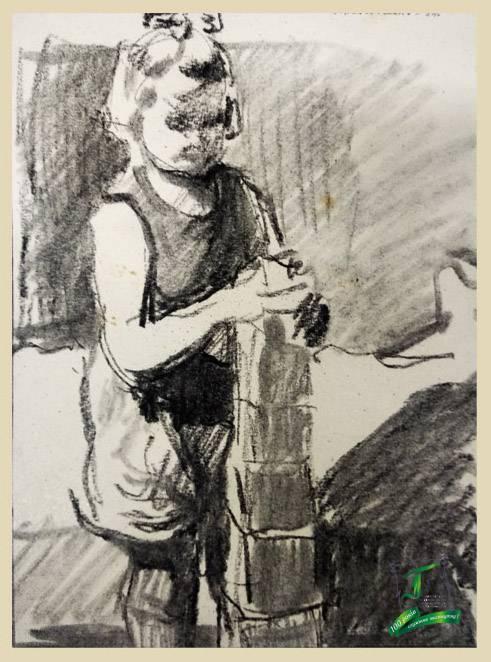 Дівчинка з кубиками. 1954
