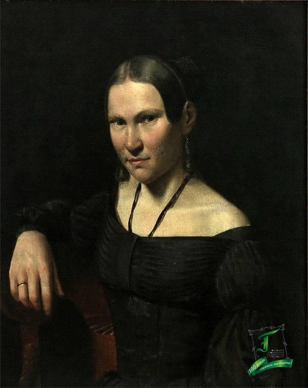 Іван Зайцев. Портрет Глафіри Іванівни Зайцевої. 1838