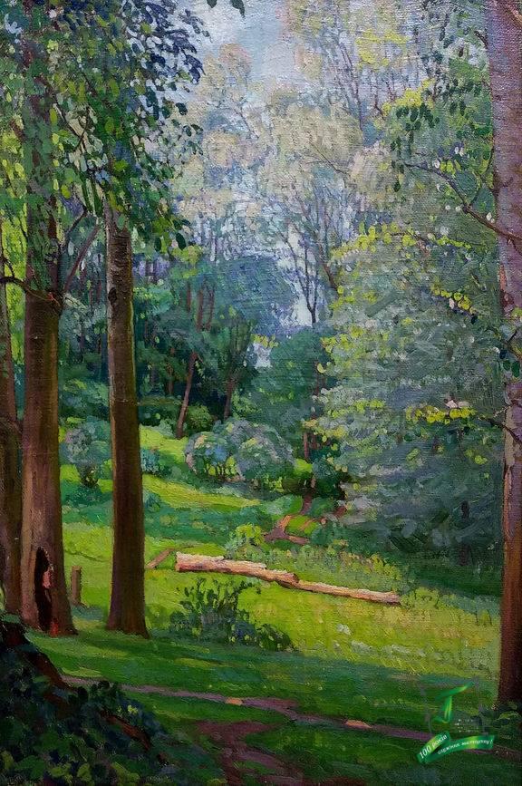 Розенбаум С. А. (1880-1941) Лісова галявина. 1936р. П.,о.