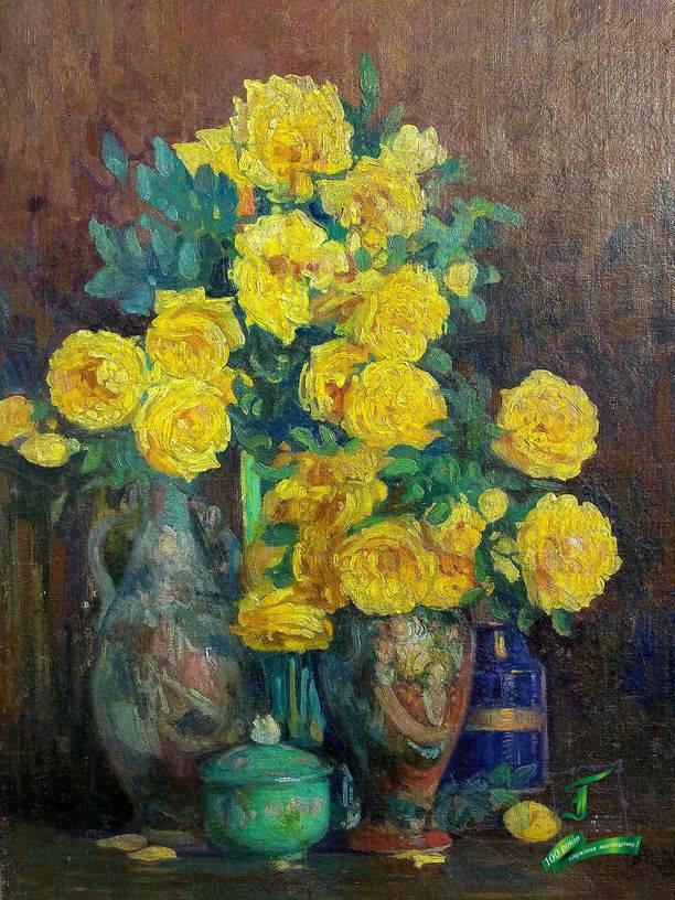 Розенбаум С. А. (1880-1941) Жовті троянди. 1937р. П.,о.