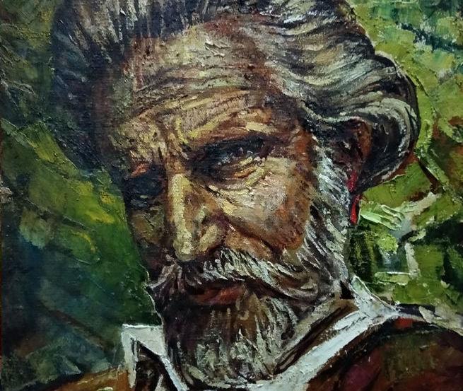 В.О. Трохимець-Мілютін (1933-2018) Автопортрет. 1993. Полотно, олія, 50х45 Інв. No Ж-1267