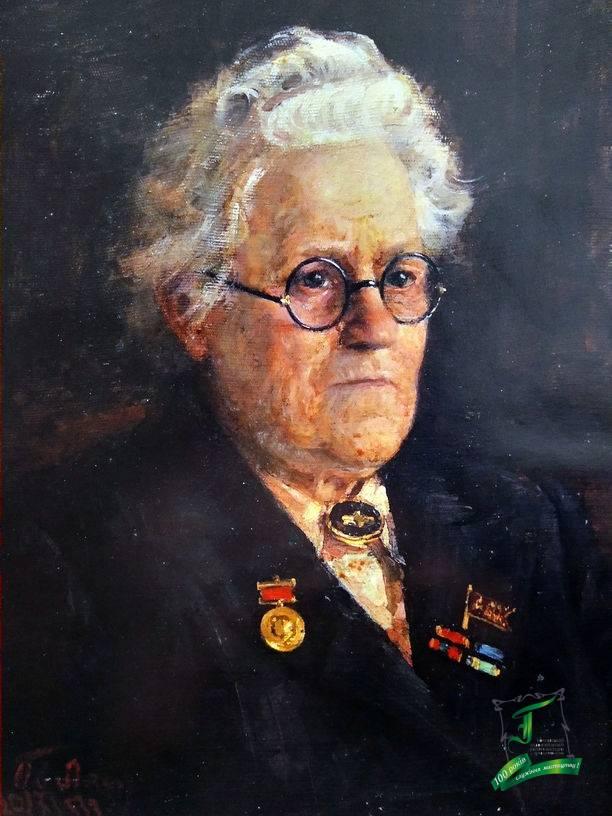 Аристова Ірина. Портрет Ольги Борисівни Лепешинської. 1953. П., о. 45х35,7