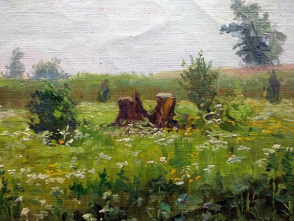 Рощина О.І. (1856-1941). В лузі. П.,о.