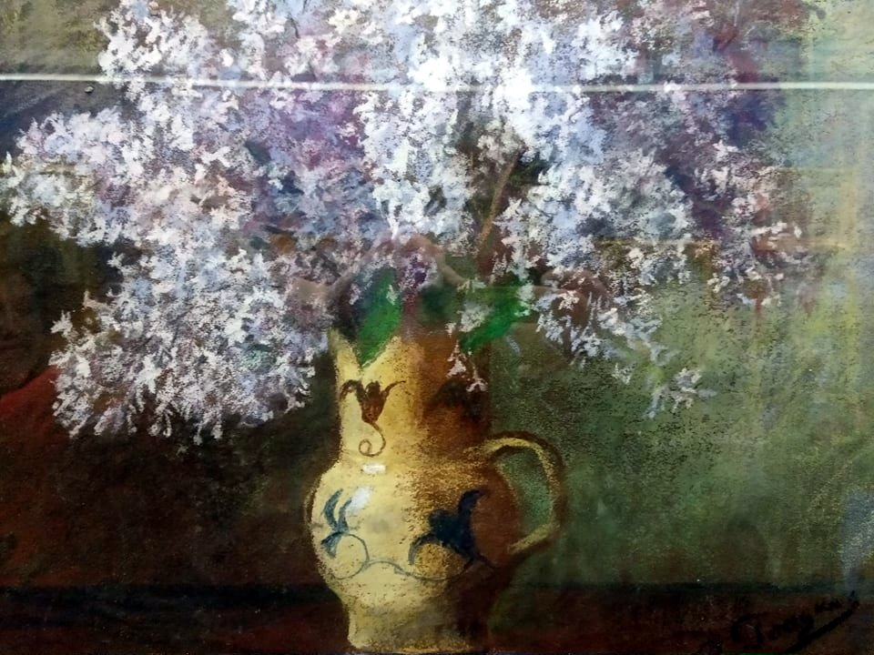 Рощина О. І. (1856-1941). Бузок. Полотно, пастель