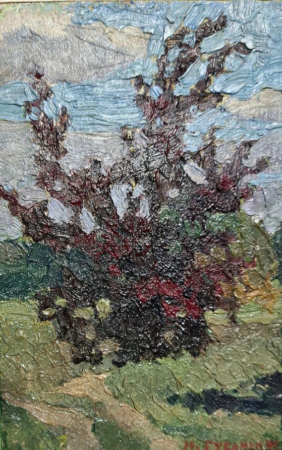 Дерево. 1941. Картон, олія. 14х9