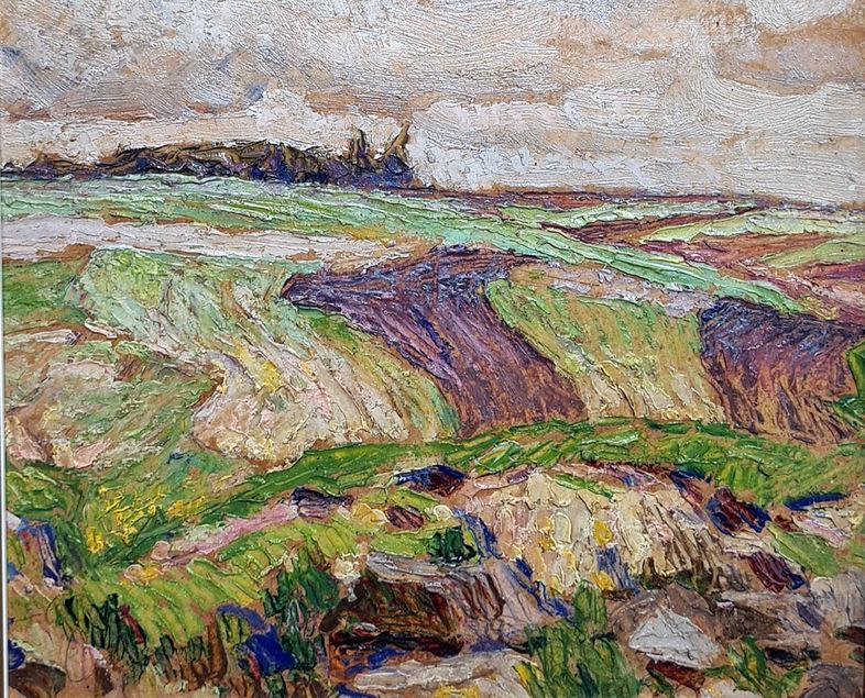 Весняний пейзаж. 1922. Картон, олія. 21х25,3