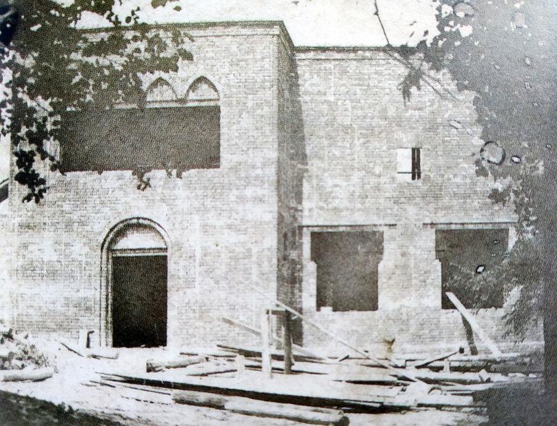 Будівництво будинку-майстерні Івана Мясоєдова в Павленках (бл. 1913 р.). Фото з архіву НХМУ