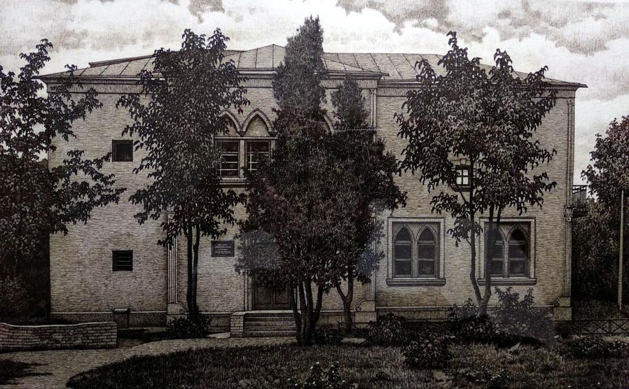 Володимир Піаніда. Будинок художника І.Г.Мясоєдова в Полтаві. 1964 р.