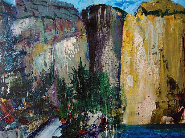 Норвезькі скелі. 50х70. П.,о.