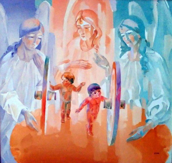 Сіробаба М.В. Охоронці долі. 2008. Полотно, олія. 82х87