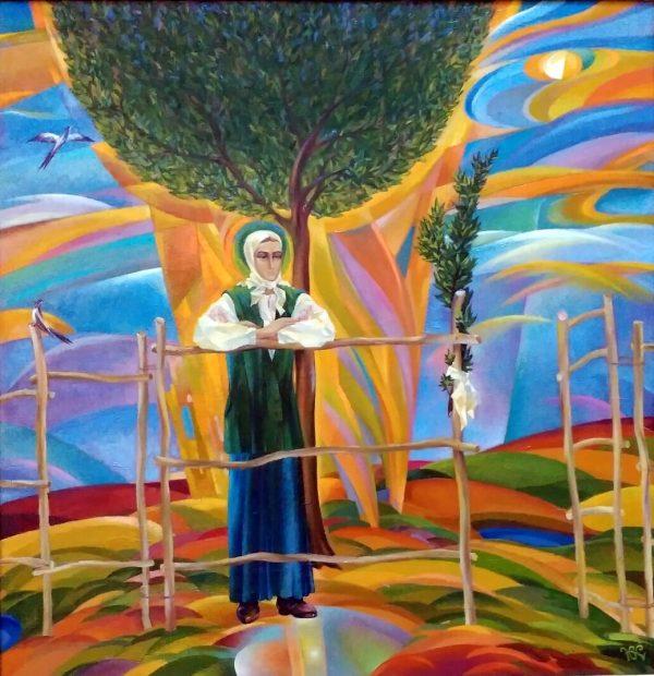 Самойленко Ю.О. Зелена неділя. Спогади надій. 2005. Полотно, олія. 95,5х93