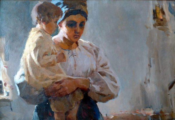 Любимов Є.В. Наймичка. 1964. Полотно,олія. 55х80
