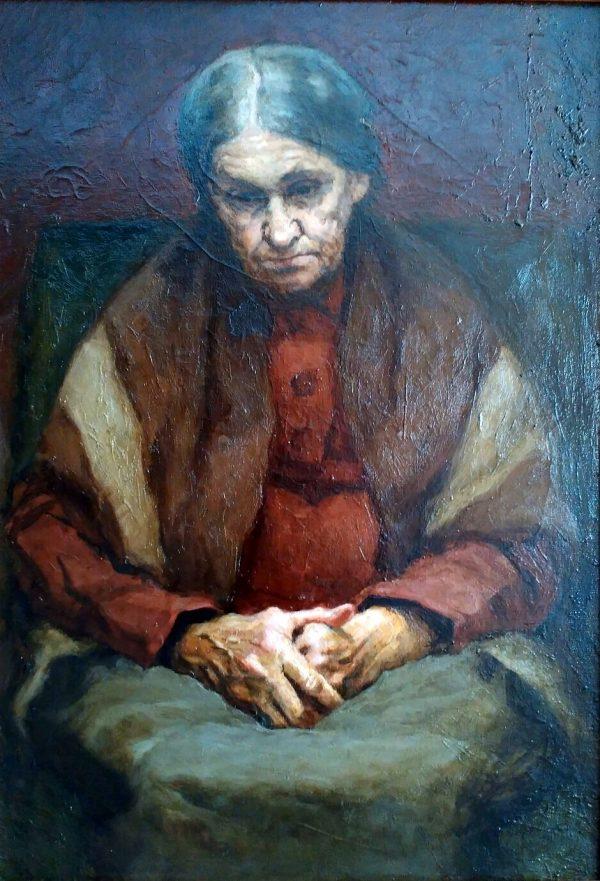 Любимов Є.В. Портрет матері. 1975-1977. Полотно, олія. 55х80