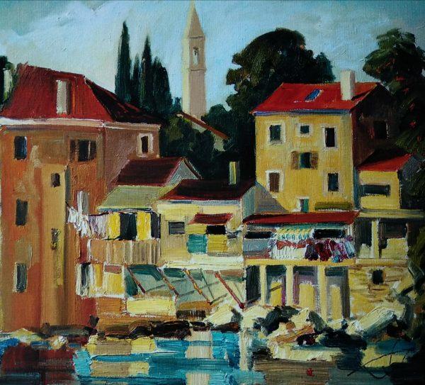 Хорватське місто. 60х70. Хорватія. 2007