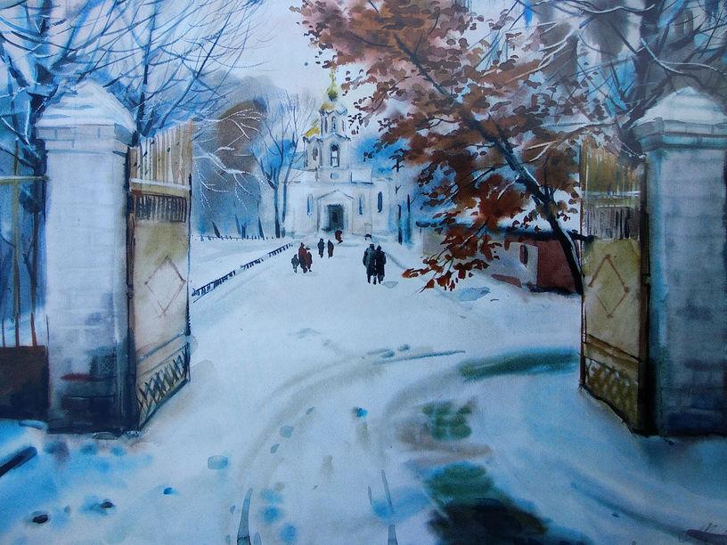 Кривобоченко А.М. Дорога до храму. 2005
