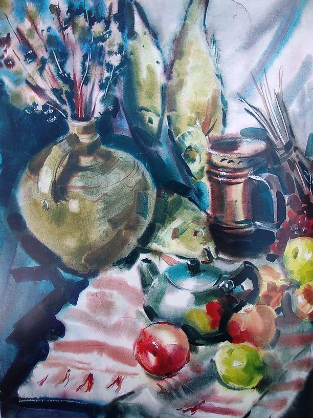 Кривобоченко А.М. Натюрморт з рибою. 1999